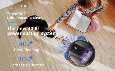 The Strongest Suction Robot Vacuum Tesvor M1 With 4000 PA