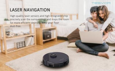Laser Navigation Auto-Charging Tesvor- S6 Robot Vacuum And Mop