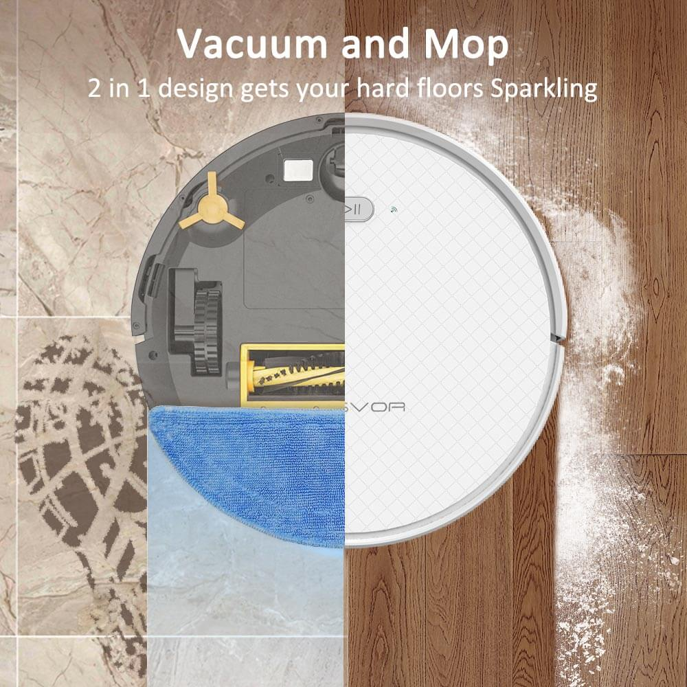 2-in-1 vacuum and mop